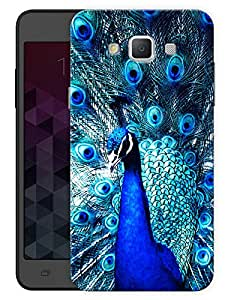 """Humor Gang Peacock Dancing Printed Designer Mobile Back Cover For """"Samsung Galaxy j7"""" (3D, Matte Finish, Premium Quality, Protective Snap On Slim Hard Phone Case, Multi Color)"""