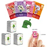 72 PCS NFC Tag Game Cards Rare Villager for Animal Crossing New Horizons con Crystal Storage Box, adatto per Switch/Switch Li