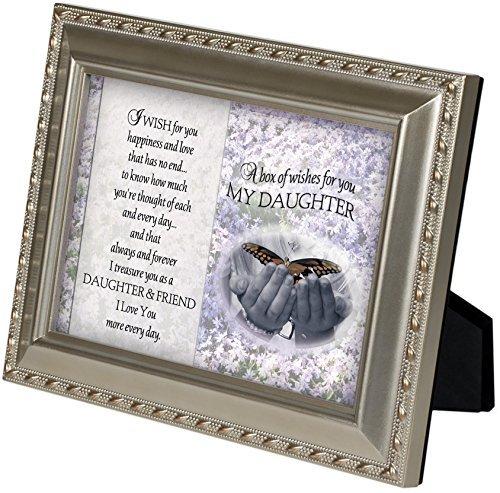 My Daughter Butterfly I Wish für Sie Champagner Silber 12,7x 17,8cm gerahmt Kunst mit Staffelei Rückseite (Landwirtschaft Gerahmte Kunst)