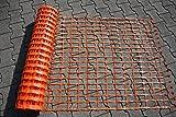 Bild: UvV Fangzaun Absperrnetz Maschenzaun Bauzaun auf Rolle Kunststoff Meterware Zuschnitt extrem Reissfest 150 gr qm 25