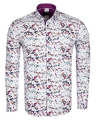 98b666c76712 Oscar Banks SL 6720 - Impresión de Salpicaduras de Pintura (algodón Puro)  Blanco Blanco