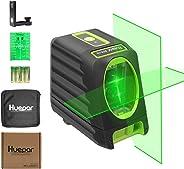 Huepar Self-leveling Alignment Line Laser, Green Laser Level BOX-1G 45m/150ft Cross Line Laser, Selectable Vertical & Horizo
