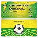 Einladungskarten zum Geburtstag (50 Stück) als WM Fussballticket Karte Ticket Fussball Einladung