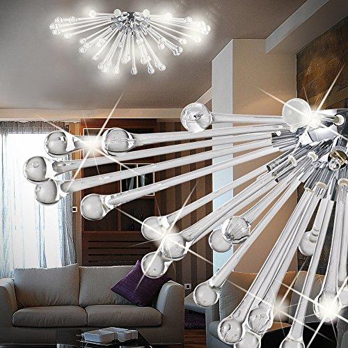 Mundgeblasenes Glas Wandlampen (MIA Light Design Decken Leuchte Ø700mm/ Grau/ Glas/ Lampe Mundgeblasen Wandlampe Wandleuchte)