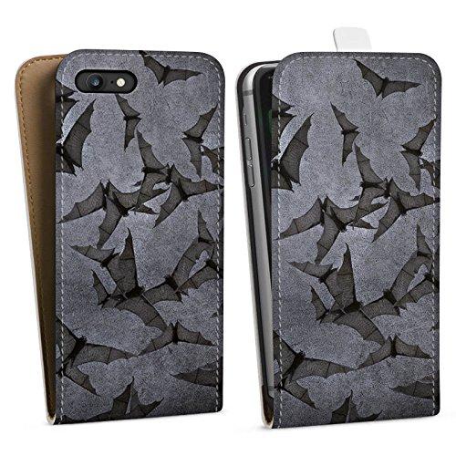 Apple iPhone 7 Hülle Premium Case Cover Fledermaus Bat Vampir Downflip Tasche weiß
