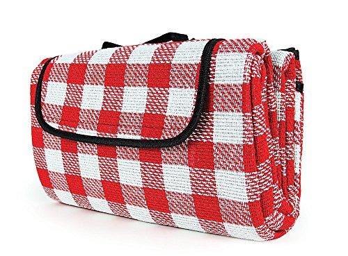 Preisvergleich Produktbild Camco 42801 Picknickdecke, 129,5x149,8cm, Rot und Weiß