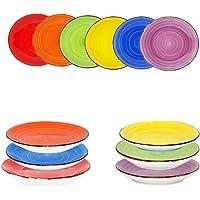 Service de table vaisselle Service de table porcelaine Set de vaisselle Service à café Multicolore Uni, 4er-Set (1x jede…