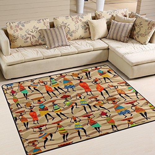 Use7 Alfombra étnica Vintage para Mujer, para salón, Dormitorio, Tela, 160cm x 122cm5.3 x 4 Feet