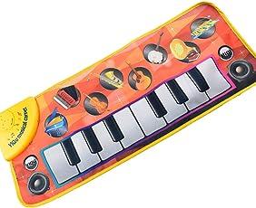 Eizur Musikalische Klaviermatte Baby Früherziehung Spielzeug Musik-Klavier-Decke Tippen Sie auf Wiedergabe Singende Tastatur Lustiges Spielzeug für Kinder