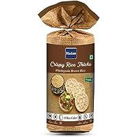 HAIM Organic Crispy Rice Thicks Wholegrain Brown Rice Cake (Pack of 1)