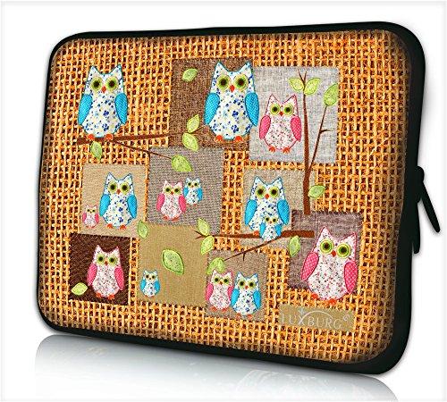 Luxburg® Design Laptoptasche Notebooktasche Sleeve für 12,1 Zoll, Motiv: Eule