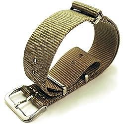G10 Nato Military Khaki Watch Strap Band Steel Buckle 20mm
