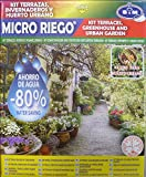S&M Kit Completo de microriego para terrazas, invernaderosy huertos urbanos, Negro
