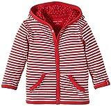 Lana Natural Wear Unisex - Baby Strickjacke Wendejacke Momo, Gestreift, Gr. 80 (Herstellergröße: 74/80), Mehrfarbig (Tomate-Natur 2200)