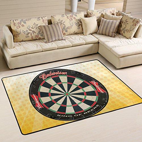 COOSUN Dartscheibe Teppich Rutschfest für Wohnzimmer Schlafzimmer 91.4 x 61 cm, Textil, Multi, 36 x 24 inch