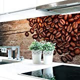 Küchenrückwand Kaffee Bohnen Premium Hart-PVC 0,4 mm selbstklebend 60x51cm