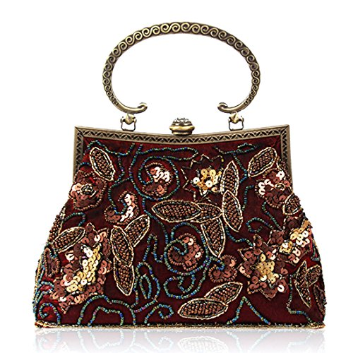 YYW Evening Bag, Poschette giorno donna wine red color