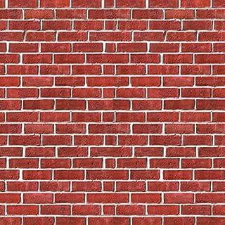 Mumustar Wall Sticker Paper Rustic Red Brick Stone Effect Wall Panels Tile Vinyl Decals Self Adhesive Wallpaper Home Livingroom Bedroom Kitchen Home Decor 15*40cm