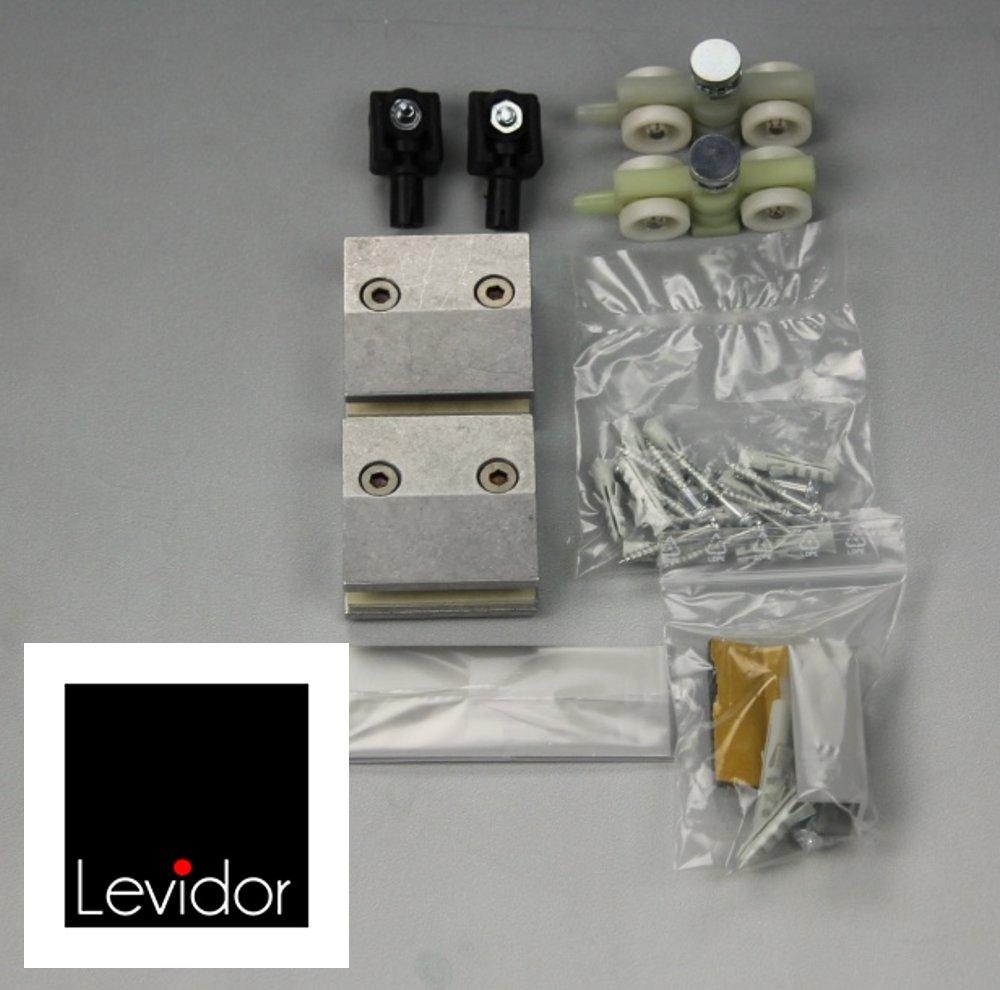 Glas schiebetür schienensystem  LEVIDOR ® Glasschiebetür Beschlag Zubehörset für Schienensystem ...