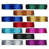 Viesap Sieradendraad, 10 kleuren aluminiumdraad 0,4 mm/0,5 mm 40 m/50 m/rol koperdraad voor het maken van sieraden, bloemkleu