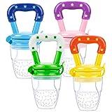4 Pezzi Ciuccio per Frutta, Baby food feeder, Baby Teething Toys Alimentatore di Alimenti, ciuccio frutta neonati/Senza BPA,