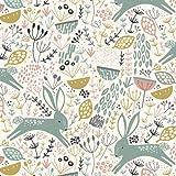 Dashwood Studio Tauchstein – Kaninchen Blumen auf Weiß