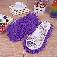 Hunpta Women Dust Mop Slippers Socks Microfiber House Slippers Bedroom Shoes