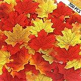 trasfit 300surtidos combinadas Otoño colores de seda Hojas de arce para el otoño fiesta o las bodas, eventos, y decoración