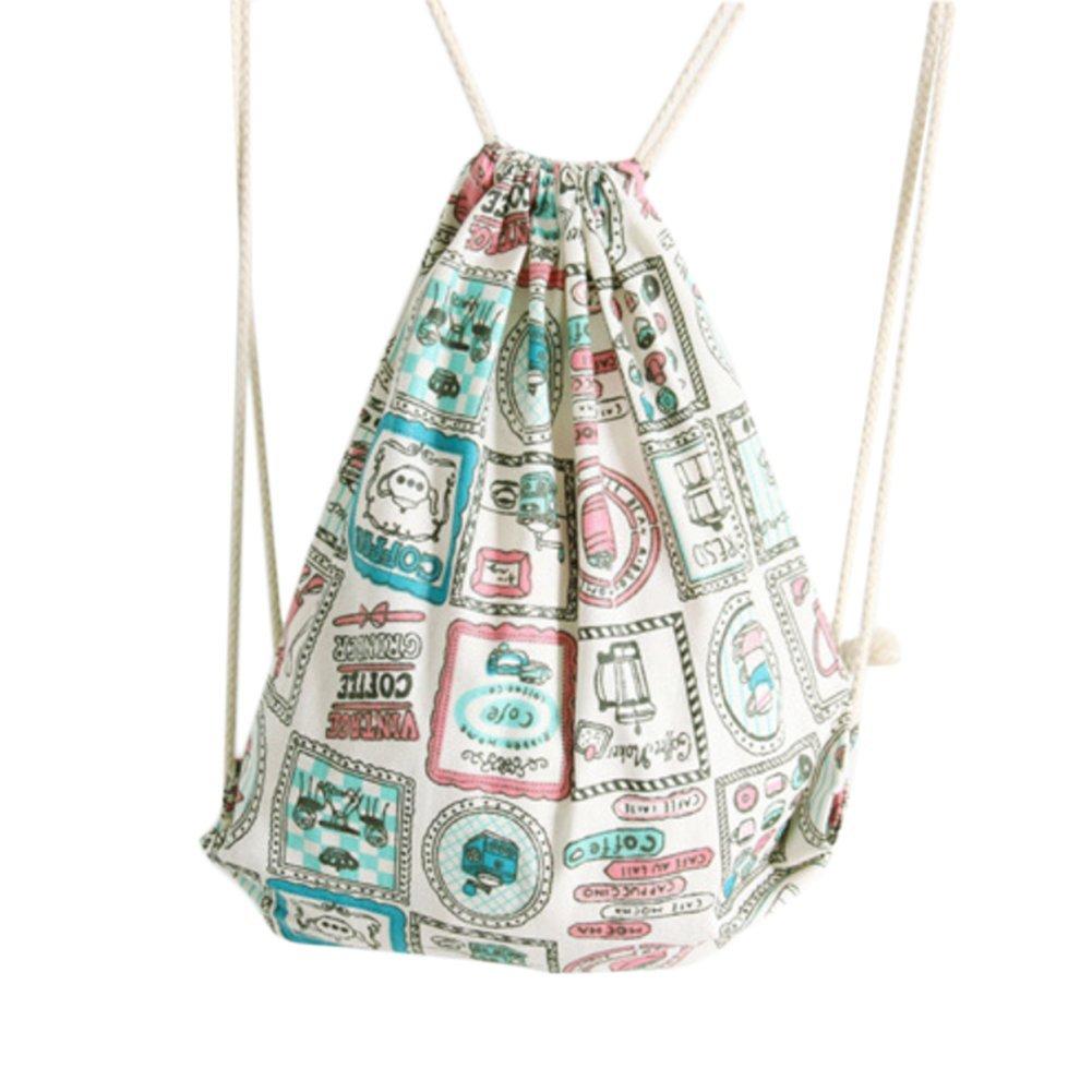 Laat coulisse zaino borsa di tela borsa a tracolla da viaggio, in cotone e lino, zaino College vent