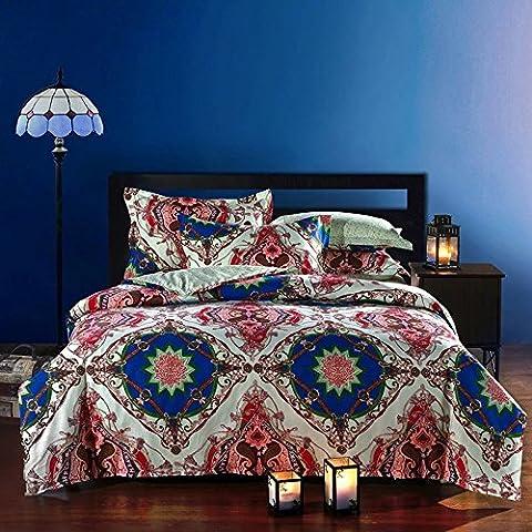 beddingleer 100% algodón ropa de cama moderna conjuntos de estilo Boho fundas de edredón conjuntos de ropa de cama queen king size boho ropa de cama 4piezas, elegante país europeo