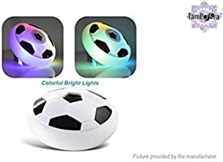 Football Game Toy Soccer Disc for Kids with Foam Bumper and LED Lights - Multi Color by TamBoora
