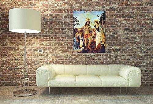 ArtPlaza Da Vinci Leonardo – The Baptism of Christ, Dekorative Paneele, Holz, Mehrfarbig, 60 x 1.8 x 80 cm