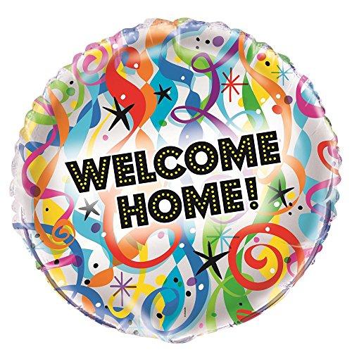 Unique Party Supplies 45,7cm Folie Bright Welcome Home Ballon