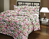 #5: Style Seven Beautiful Floral Print Double Bed Size Reversible AC Dohar/Blanket/Quilt