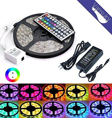 Vansuky-LED-Leiste-leuchtet-RGBWei-300-Stck-SMD-5050-LED-wasserdicht-12-Volt-LED-Lichtleisten-Pack-von-164-ft5-m