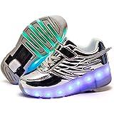 LED Chaussures de LED Roulettes USB Rechargeable Nouveau Style Lumi/ères Clignotant Couleur Changeant Chaussures de Multisports Outdoor /à Roulettes Sports Gymnastique Sneakers avec Rouleau Fille Gar/çon