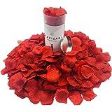 WAKISAKI (separato, deodorato) Petali di rosa finti artificiali per notte romantica, matrimonio, evento, festa, decorazione,