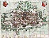 MAP ANTIQUE 1649 VAN LOON COMM UTRECHT CITY PLAN REPLICA