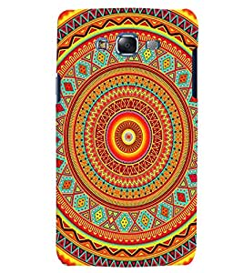 Citydreamz Traditional Rangoli Design/Floral Design/Beautiful Texture Print/Abstract Hard Polycarbonate Designer Back Case Cover For Samsung Galaxy E7