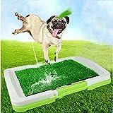 GBX Toilette per animali domestici Toilette per cani, tappetino da allenamento - Tappeto riutilizzabile in 3 strati - Tappeto per erba per interni/antiscivolo