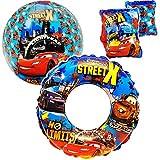 alles-meine.de GmbH Set _ Schwimmflügel & Schwimmring + Ball -  Disney Cars - Auto  - aufblasbar - 2 bis 6 Jahre - Schwimmärmel jeweils 2 Luftkammern ! - Schwimmhilfe - für Jun..
