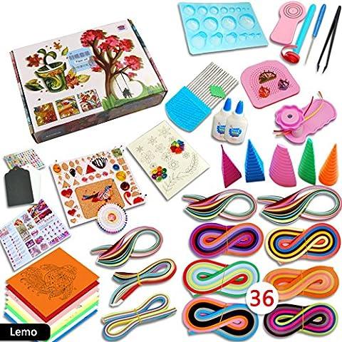 Magic Show 1140Bandes de papier pour quilling Kit DIY Craft Planche Moule Pince peigne Outils Kit to382