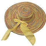 Fighting Viaggio pieghevole Outdoor Beach donne di estate tesa larga Ragazza del cappello della protezione di Sun Bowtie Lady Protezione UV Panama Cap