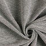 Fabulous Fabrics Jersey Stoff Lurex Glitzer – Silber — Meterware ab 0,5m — zum Nähen von Karnevalsartikeln und Abend- und Partymode
