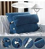 Sofa Kissen Nachtkissen Dreieck Sofa Kissen Nachttisch mit Kopfkissen Kopfstütze Taille Bürostuhl Rückenlehne waschbar Haushalt Kissen Büro Lendenkissen ( Farbe : G , größe : Size60*25*50cm )
