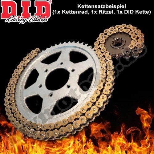 Preisvergleich Produktbild DID Kettensatz Stahl Yamaha DT125 R (101km/h) (DE03) Bj.1999, 16-57-134 DID428NZ(G&B) Clip