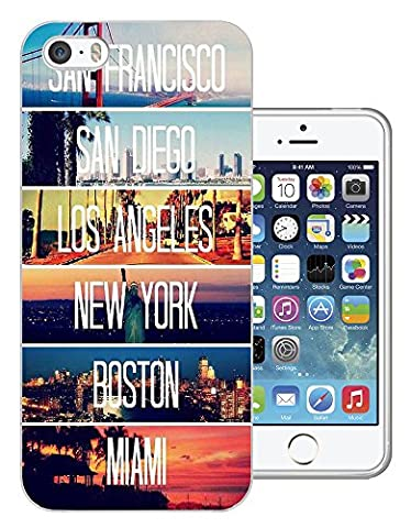 189 - Us Cities New York Miami Los Angeles Design iphone 4 4S Fashion Trend Protecteur Coque Gel Rubber Silicone protection Case Coque