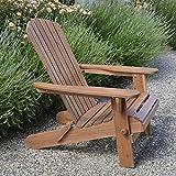 Adirondack - Sedia pieghevole in legno solido, eccellente qualità