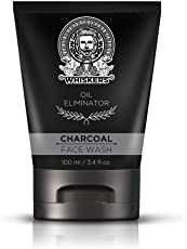 Whiskers Charcoal Face Wash For Oily Skin, Deep Cleansing & Exfoliation - Reduces Wrinkles - 100 ml