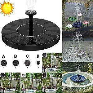 Leoie – Bomba de Agua Solar para pájaros, Bomba Sumergible para riego al Aire Libre, Bomba de Agua de pie con Panel Solar de 1,4 W para jardín, Piscina, Estanque, Patio